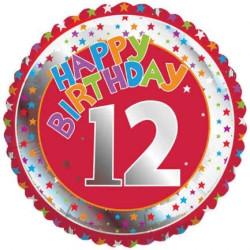 Folieballong 12 år