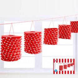 Lanternor Dots Röd