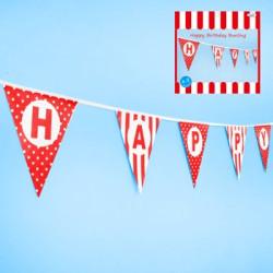 """Röda Vimplar """"Happy Birthday"""""""