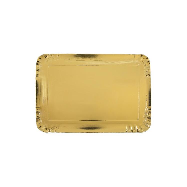 Uppläggningsfat Guld 5-pack