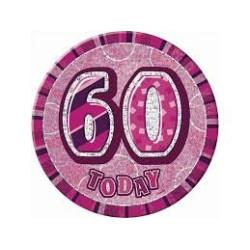Jättebrosch 60 år Rosa
