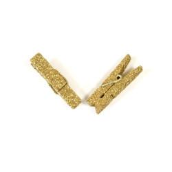 Klädnypor Guldglitter 3,5 cm