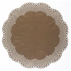 Tårtpapper Guld/brun Randigt