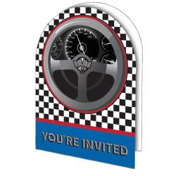 Rallybil Inbjudningskort