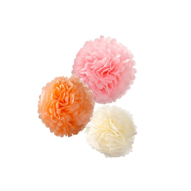 Dekorationsbollar Pastell 3-pack