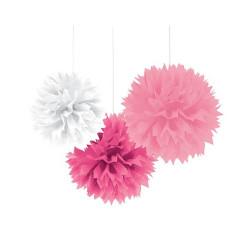 Dekorationsbollar Rosa-mix