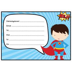 Inbjudningskort Superhero Sv