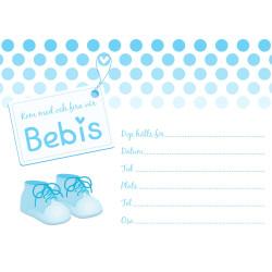 Inbjudningskort Baby Blå Sv