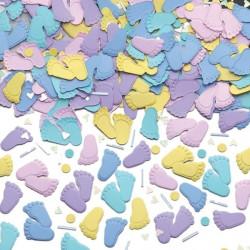 Konfetti Babyfötter Pastell