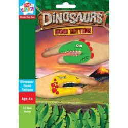 Handtatueringar Dinosaurier 24 pack