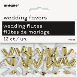 Dekoration Bröllopsklockor Guld
