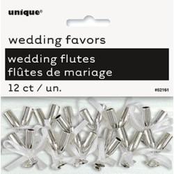 Dekoration Champagneglas Silver