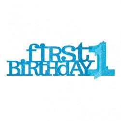 Bordsdekoration First Birthday Blå