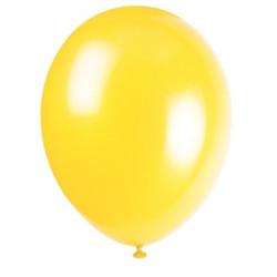50 pack Ballonger Gul Metallic