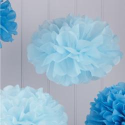 Pom Poms Ljusblå och Mellanblå