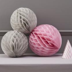 Dekorationsbollar Grå/Rosa