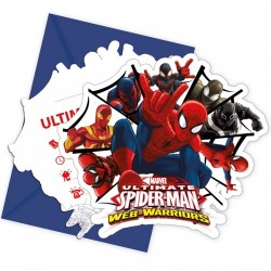 Spindelmannen Web Warriors Inbjudningkort