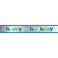 Glittrig 1 års Banner