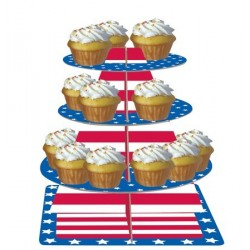 Muffinsställning USA Stars and Stripes