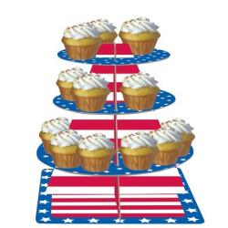 Muffinsställning USA Stars and Stripes