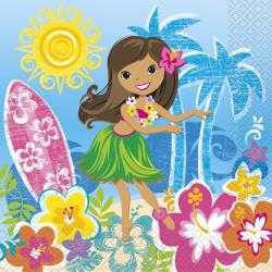 Hula Beach Party Servetter