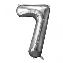 Folieballong 7 silver