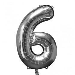 Folieballong 6 silver