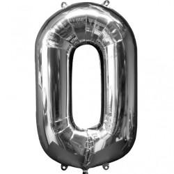 Folieballong 0 silver