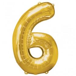 Folieballong 6 guld