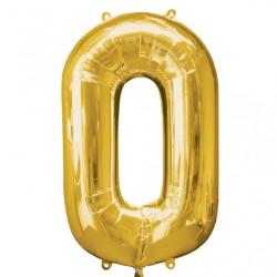 Folieballong 0 guld