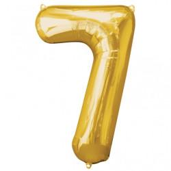 Folieballong 7 guld