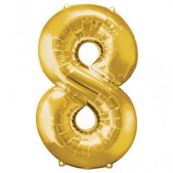 Folieballong 8 guld
