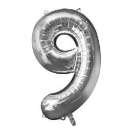 Folieballong 9 silver