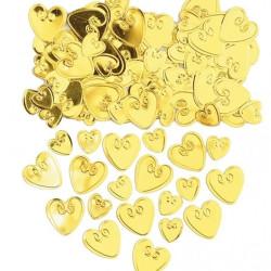 Loving Hearts Konfetti Guld