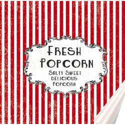 Servetter Popcorn Retro