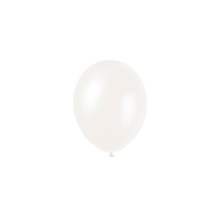 50 pack ballonger pärlemor vit