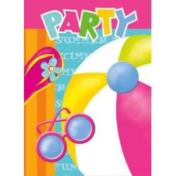 Inbjudningskort Poolparty