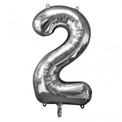 Folieballong 2 Silver