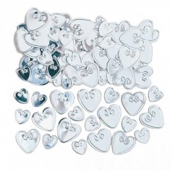 Loving Hearts Konfetti Silver