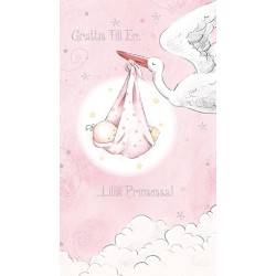 Gratulationskort Babyflicka
