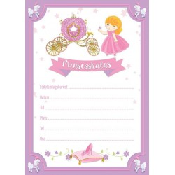 Inbjudningskort Prinsessa