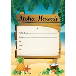 Inbjudningskort Hawaii