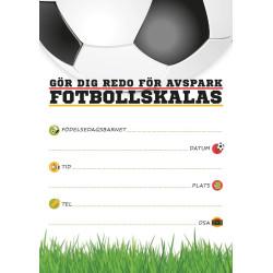 Inbjudningskort Fotboll