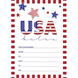 Inbjudningskort USA fest