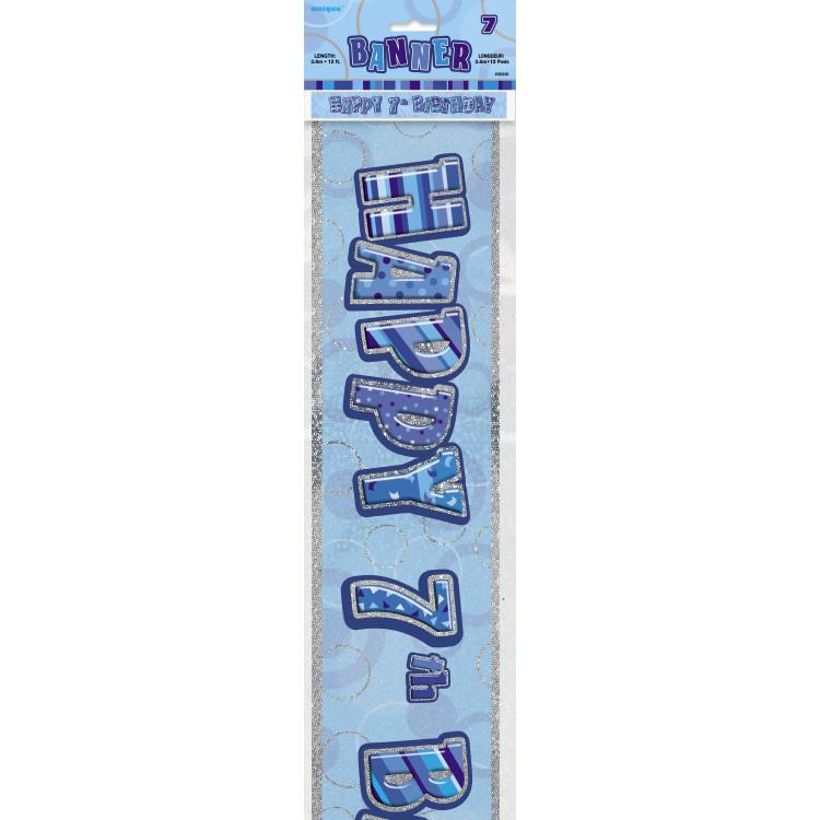 7 år Banner Glitter