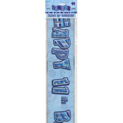 11 år Banner Glitter