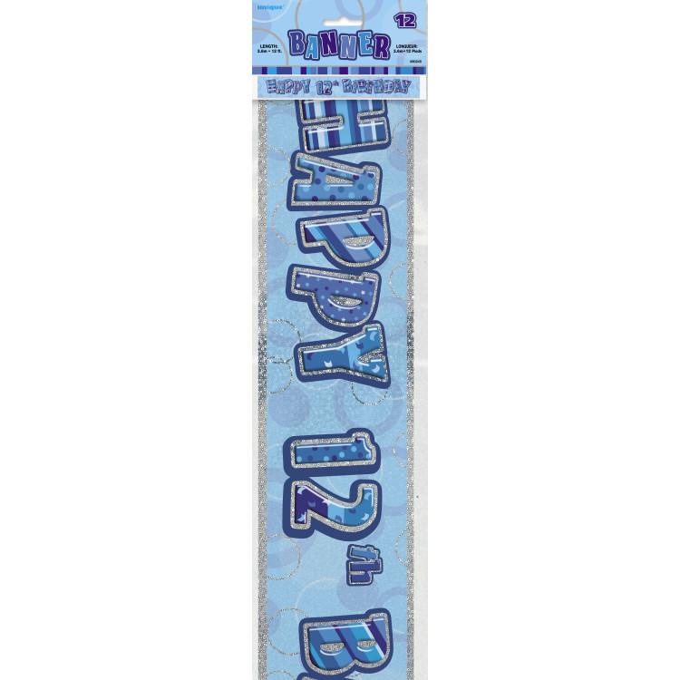 12 år Banner Glitter