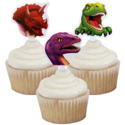 Dinosaurier Muffinsdekorationer