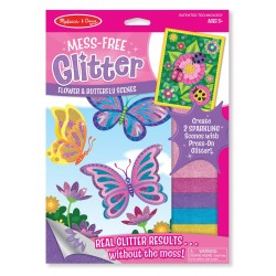 Glitter Pyssel Fjäril & Blommor