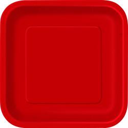 Kvadratisk Assiett Röd